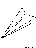 Paperplane Coloring Page
