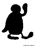 pingu cartoon silhouette
