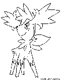 shaymin sky coloring page