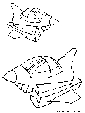 Spaceshuttles Coloring Page