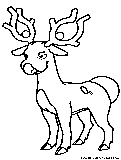 stantler pokemon coloring pages - photo#4