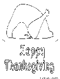 Thanksgiving Turkey Coloring Page1