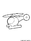 Toyhelicopter Coloring Page