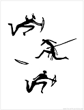 warriors cavepainting silhouette