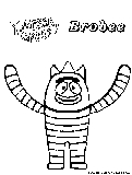 Yogabbagabba coloring pages free printable colouring for Brobee coloring page