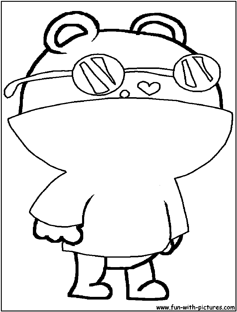 Coloring sheet of a mole - a-k-b.info