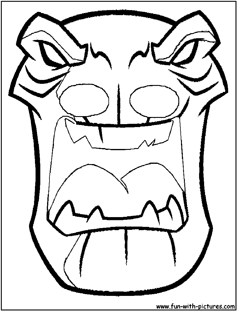 Tiki Hut Pictures Tiki Mask Coloring Pages