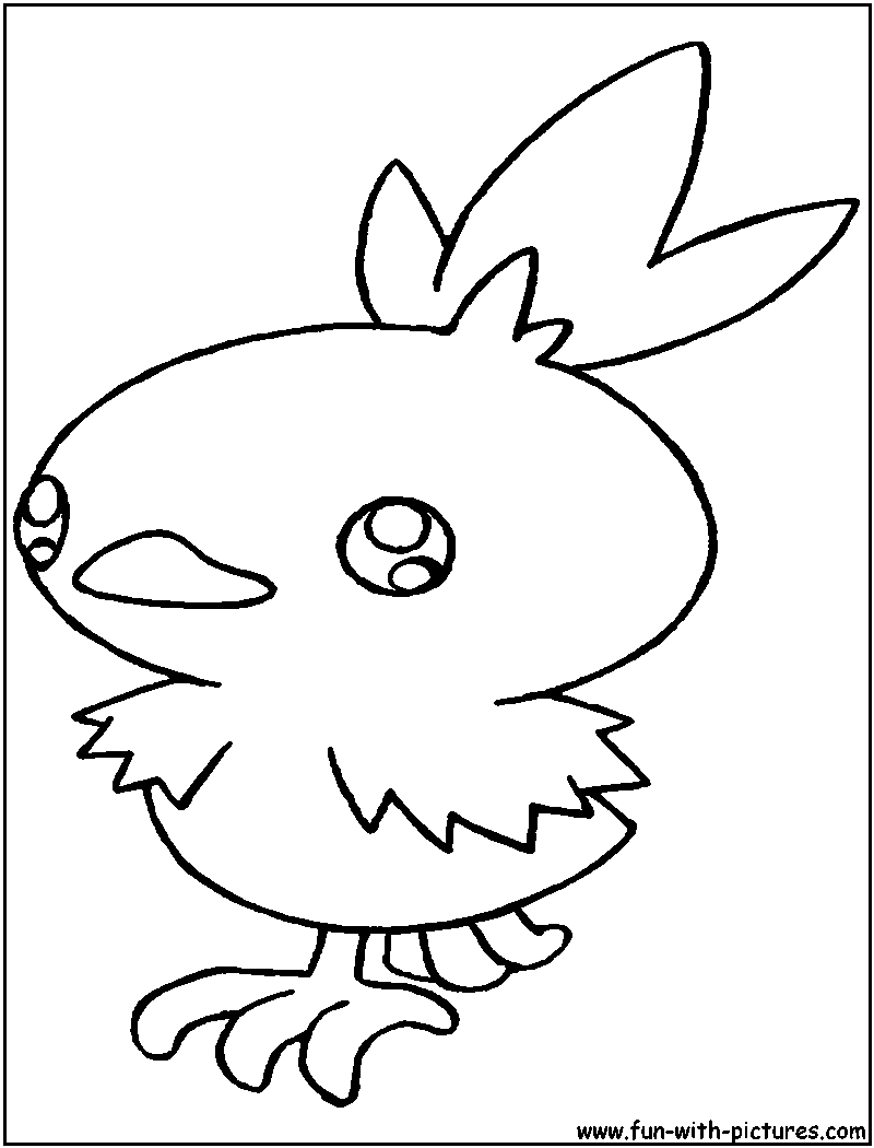 Pokemon coloring pages pancham - Torchic Coloring Pages Best Coloring Pages 2017