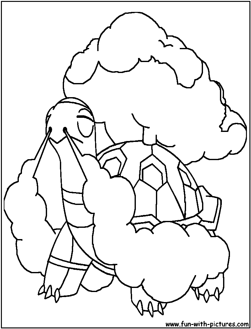Pokemon coloring pages typhlosion - Torkoal Coloring Page