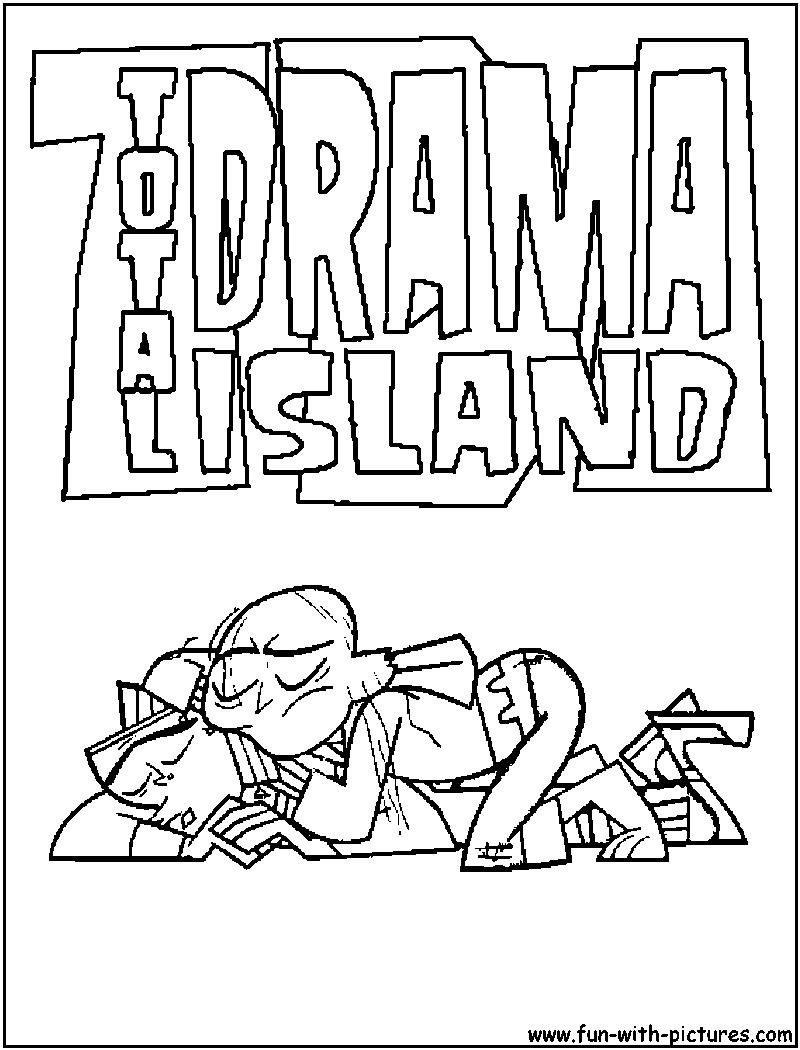 Total free coloring pages for Total drama action coloring pages