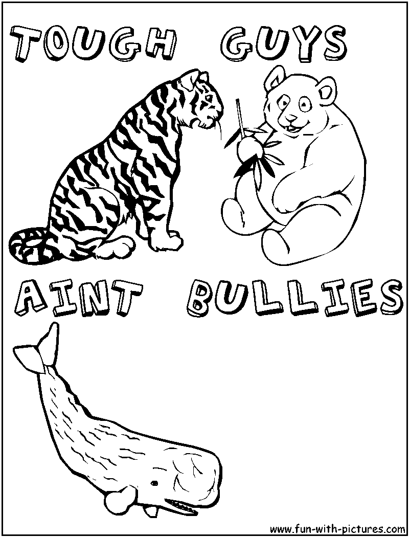 Anti Bullying Free Coloring Pages Anti Bullying Colouring Pages