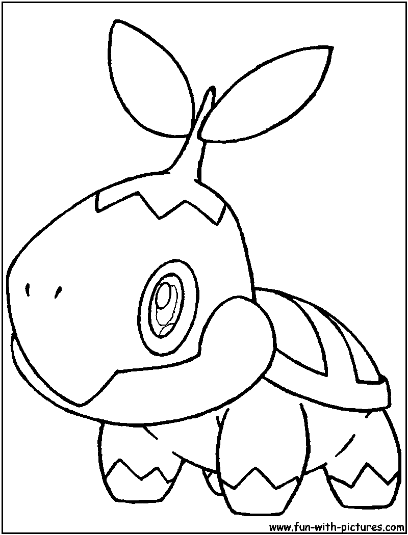 pokemon coloring pages turtwig - photo#9