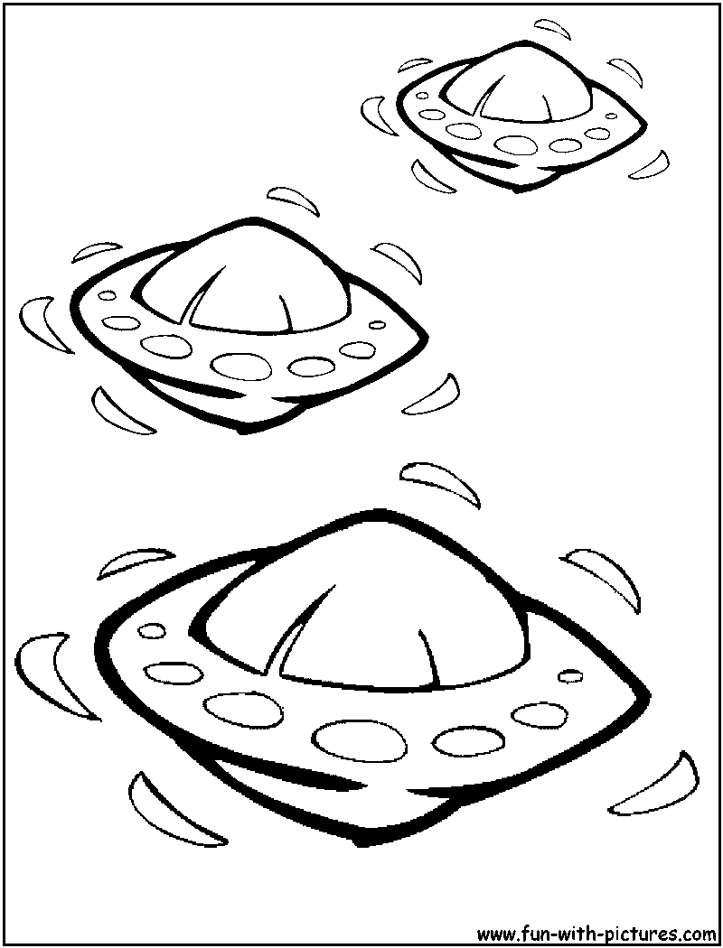 Ufo Coloring Page