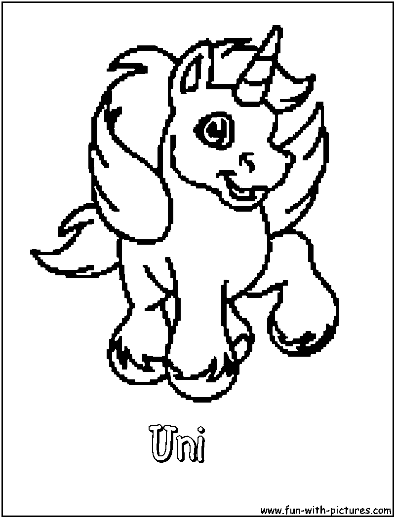 uni coloring pages - photo#27