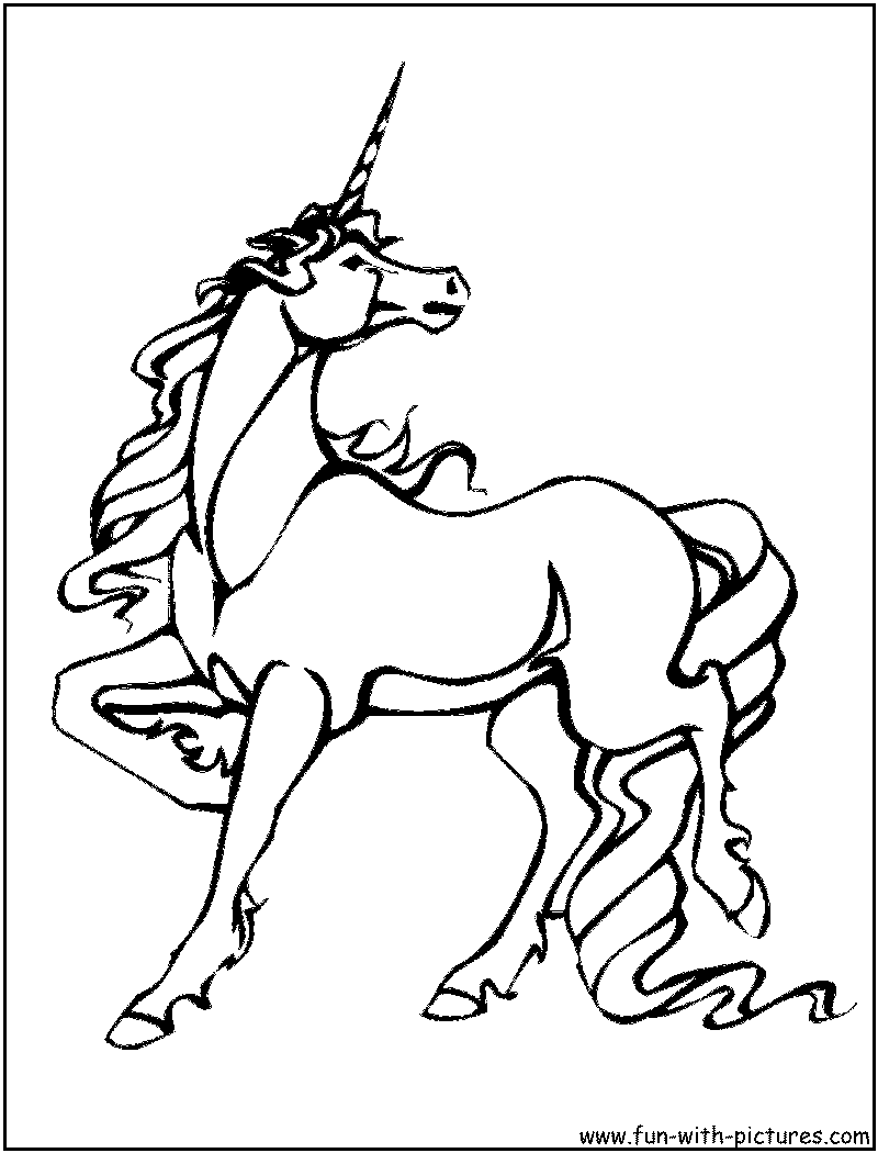 Coloring Pages Funny Unicorns Unicorn Free Printable Coloring Page