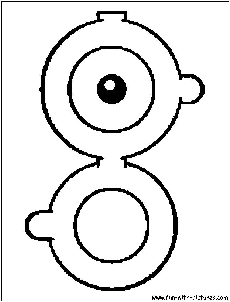 Alphabets Pokemon Coloring Pages Unown X Page