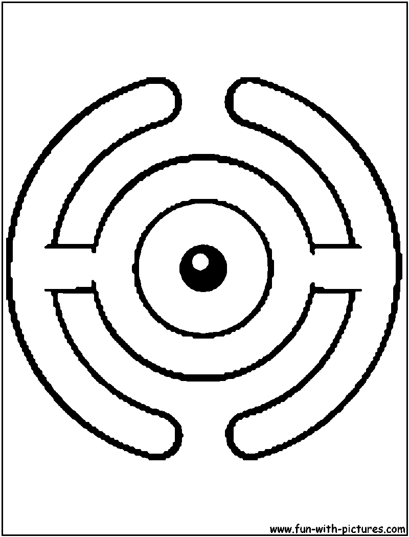 Unown H Coloring Page