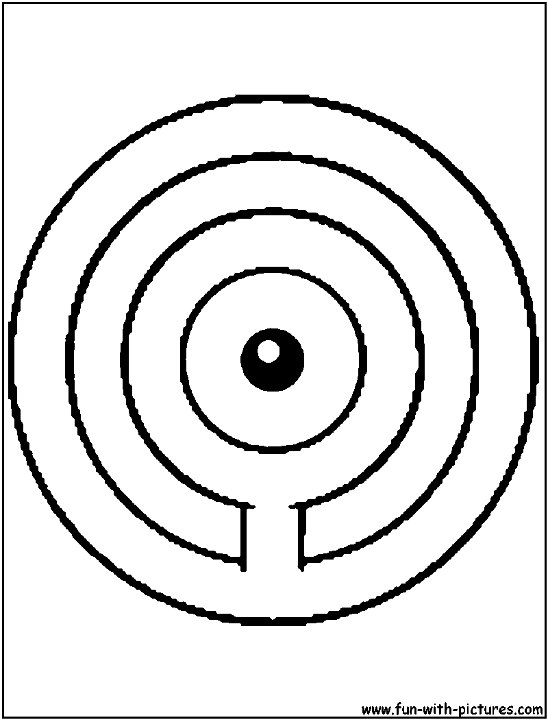 Unown O Coloring Page