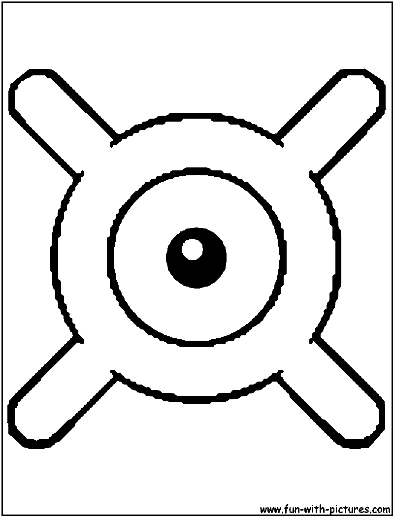 Unown x coloring page X files coloring book