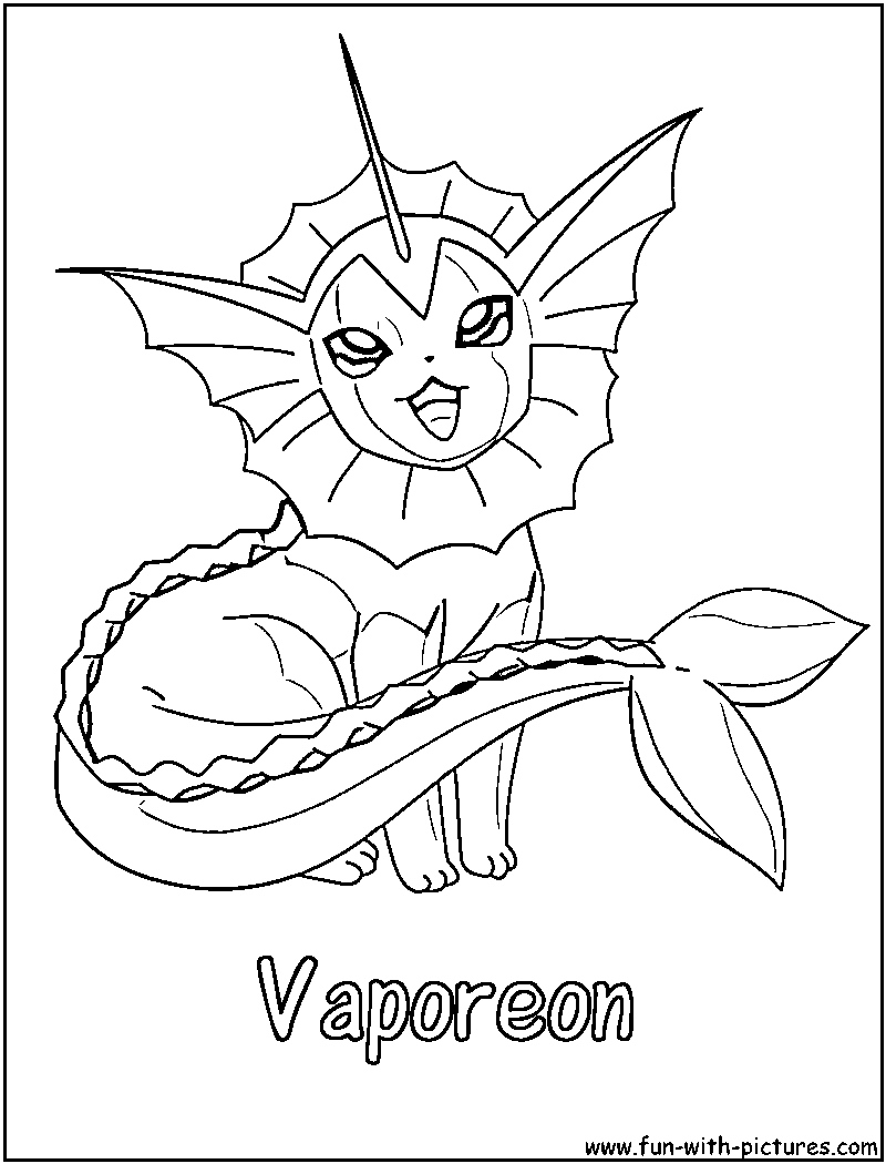 pokemon vaporeon coloring pages - photo#12