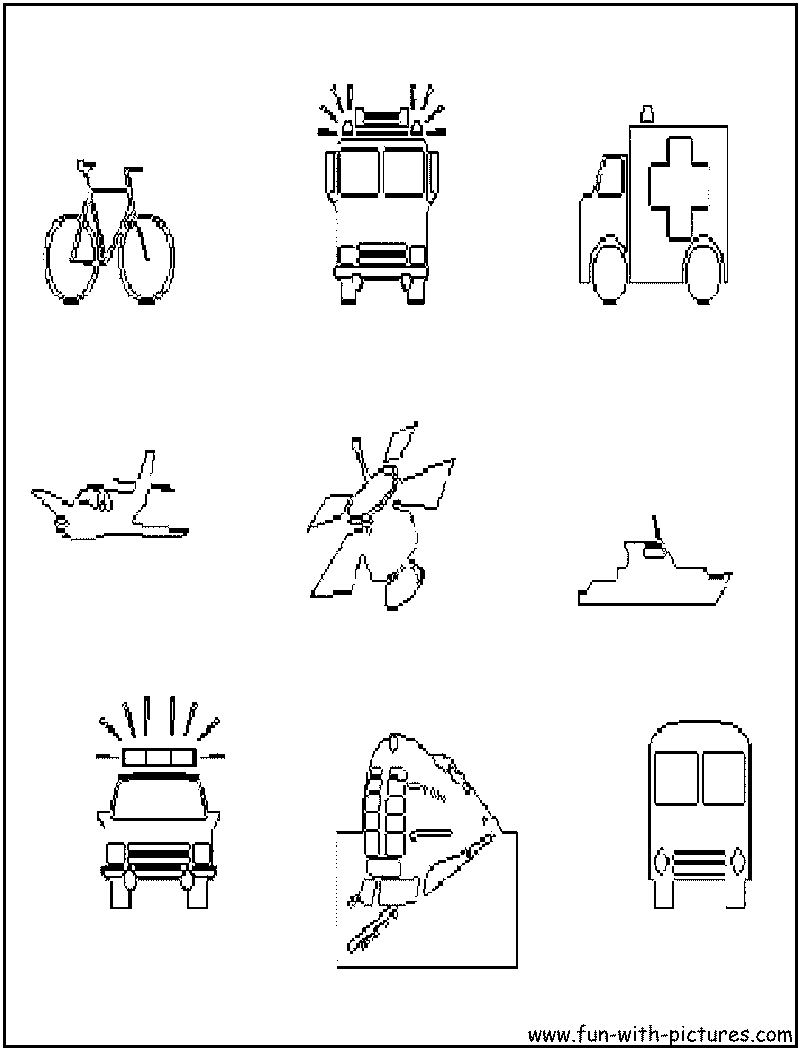 emergency vehicles coloring pages - photo #39
