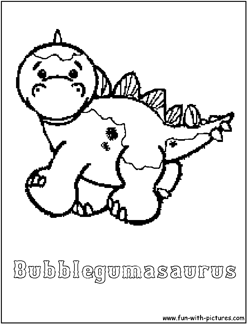 Webkinz bubblegumasaurus coloring page for Webkinz coloring pages