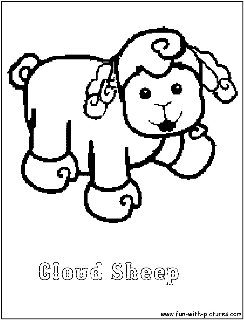 Webkinz Cloudsheep Coloring Page