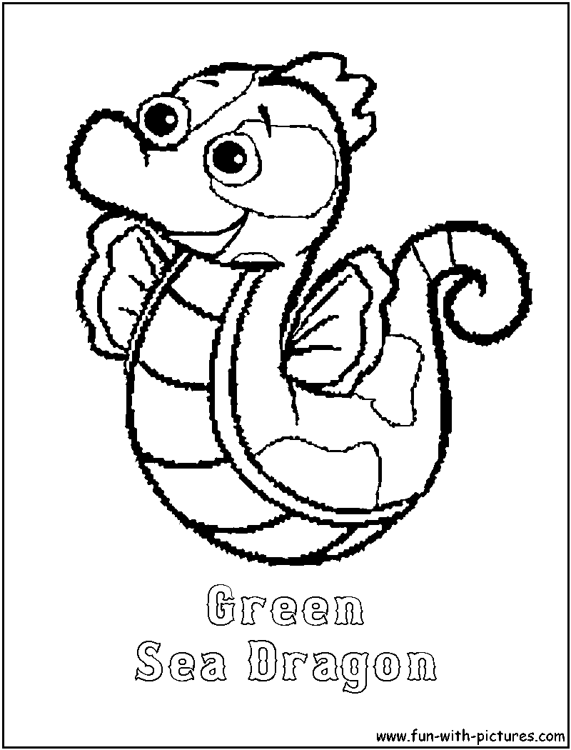 Webkinz greenseadragon coloring page for Webkinz coloring pages