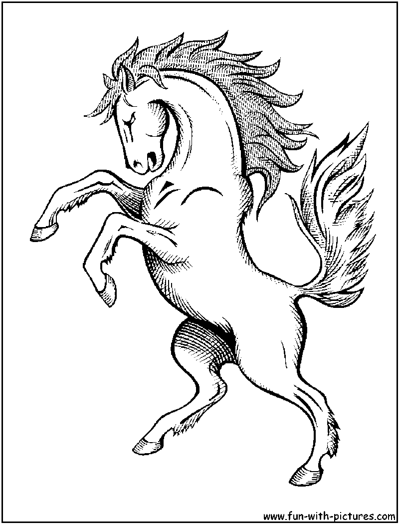 Free Horses Racing Coloring Pages