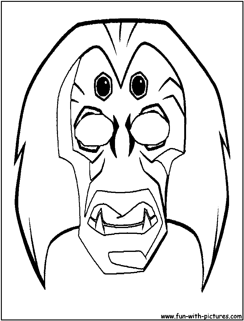 Masks Coloring Pages Free Printable