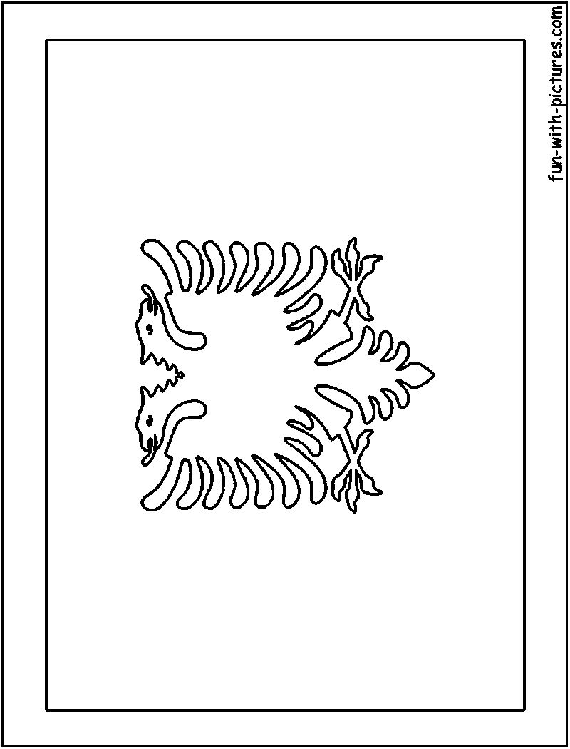Albania Flag Coloring Page