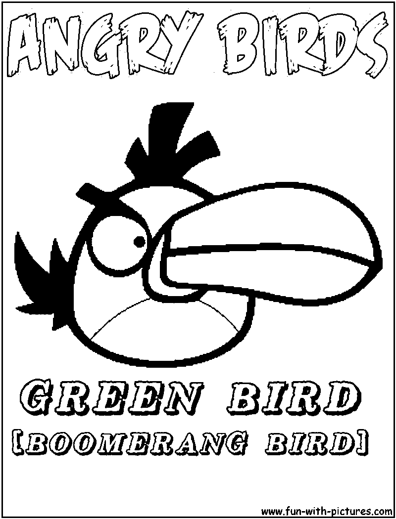 Angrybirds Greenbird Coloring Page