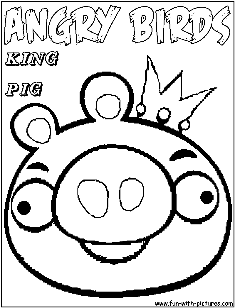 Angry Birds Coloring Pages Pigs | 1050x800