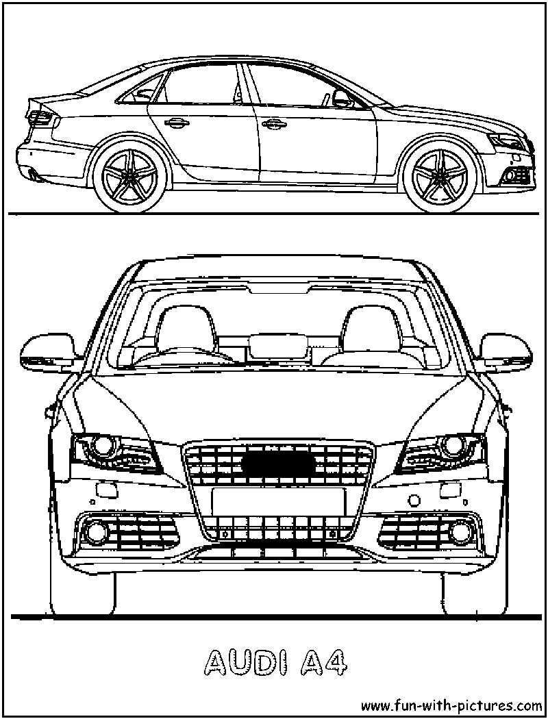 audi a4 coloring page