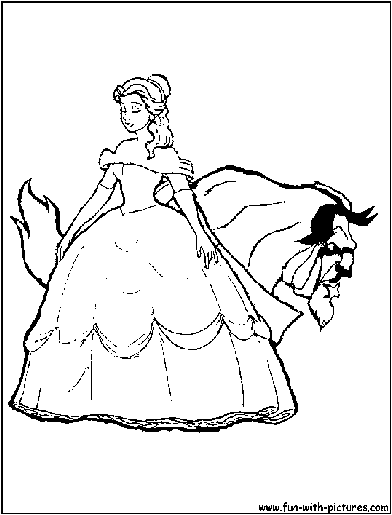 Free Printable Beauty and the Beast Coloring Pages | 1050x800