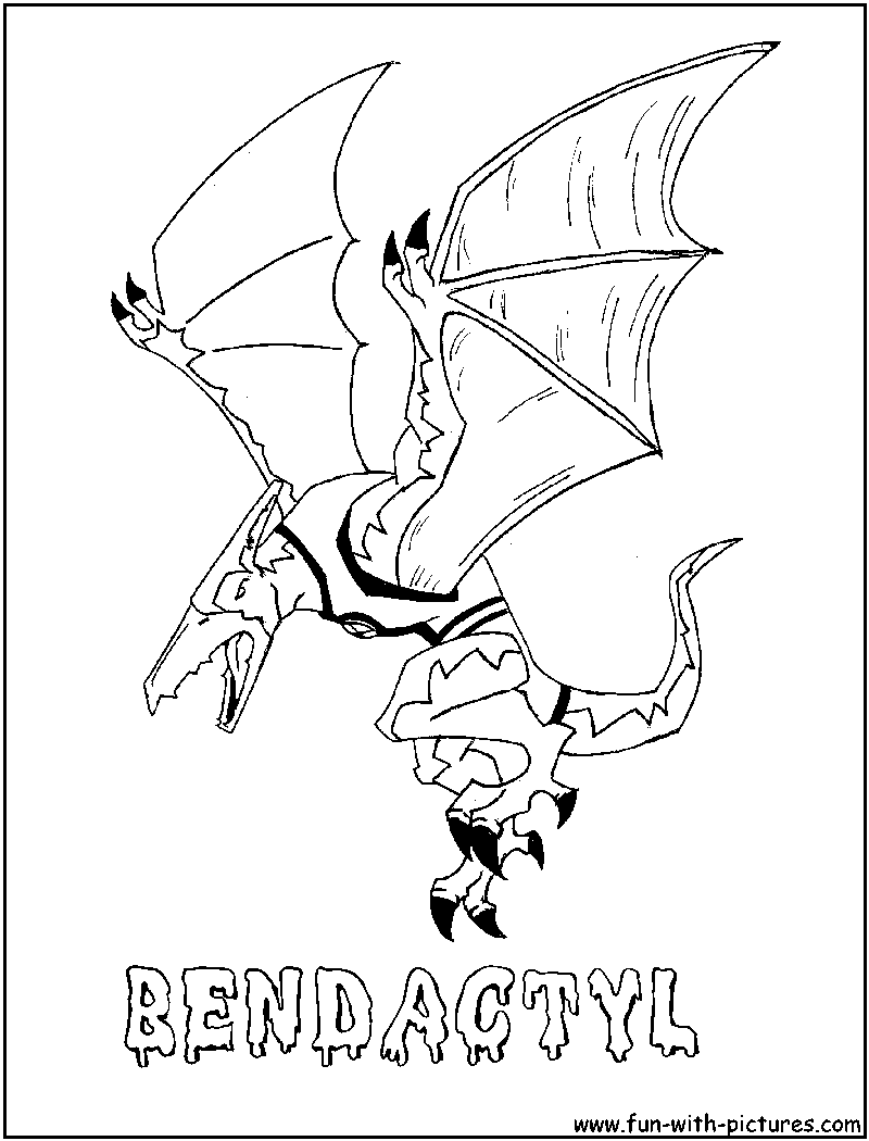 Bendactyl Coloring Page