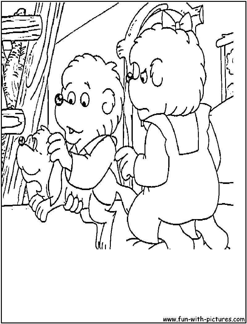 - Berenstain Bears Pet Coloring Page