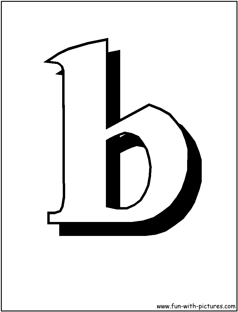 Blockletter B Coloring Page