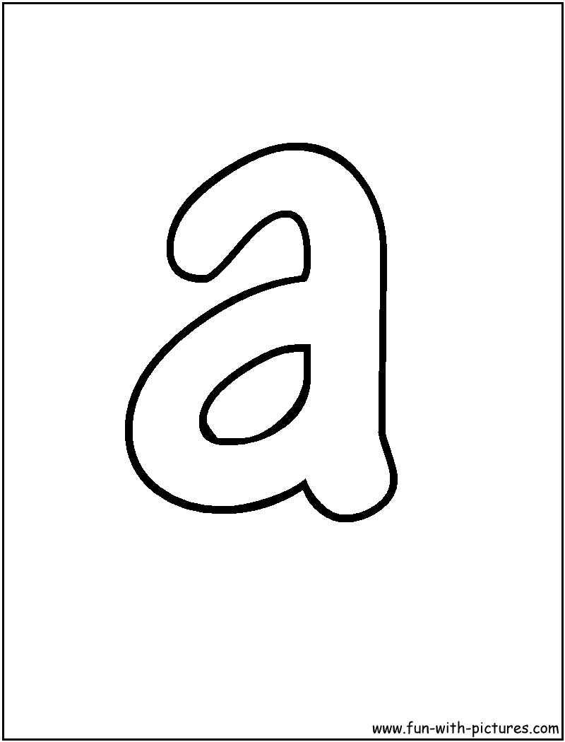 Bubble Letter A Coloring Page