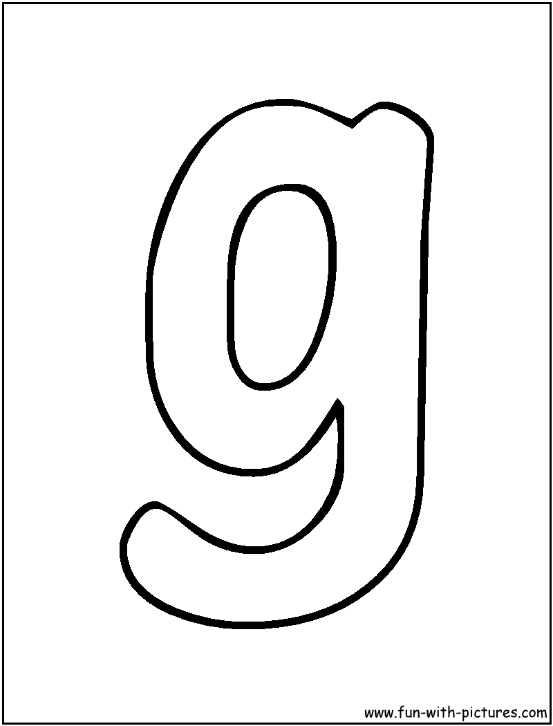 bubble letter g coloring page