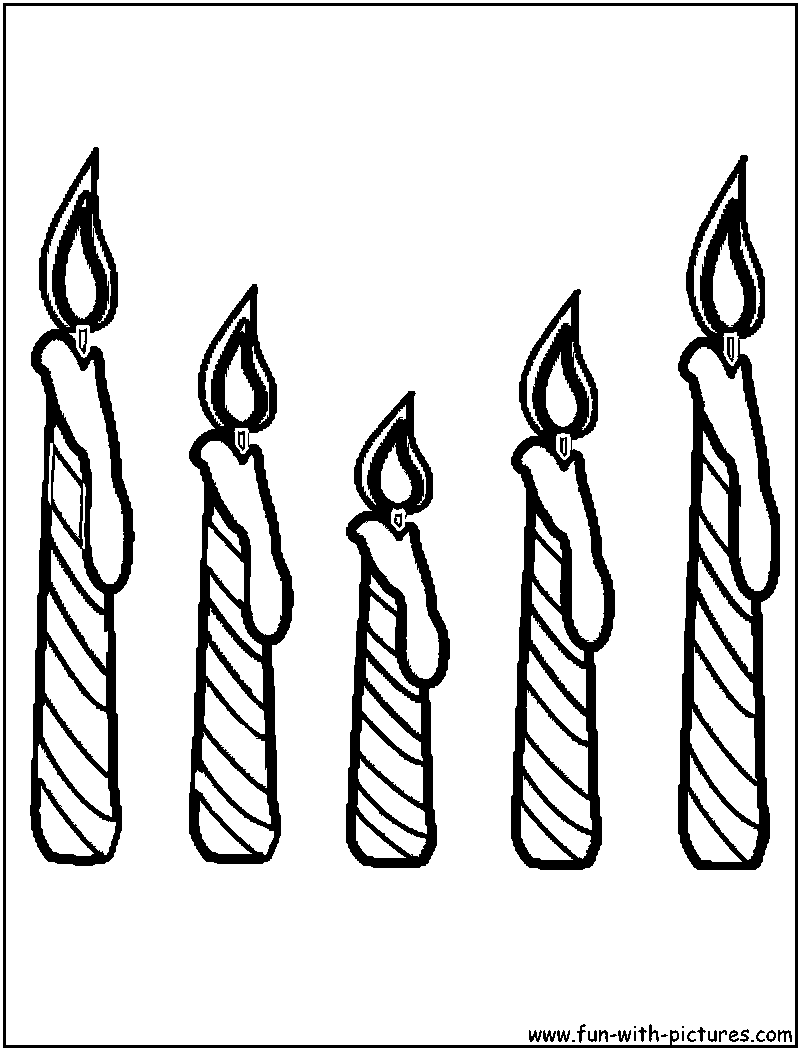 Candles Coloring Page