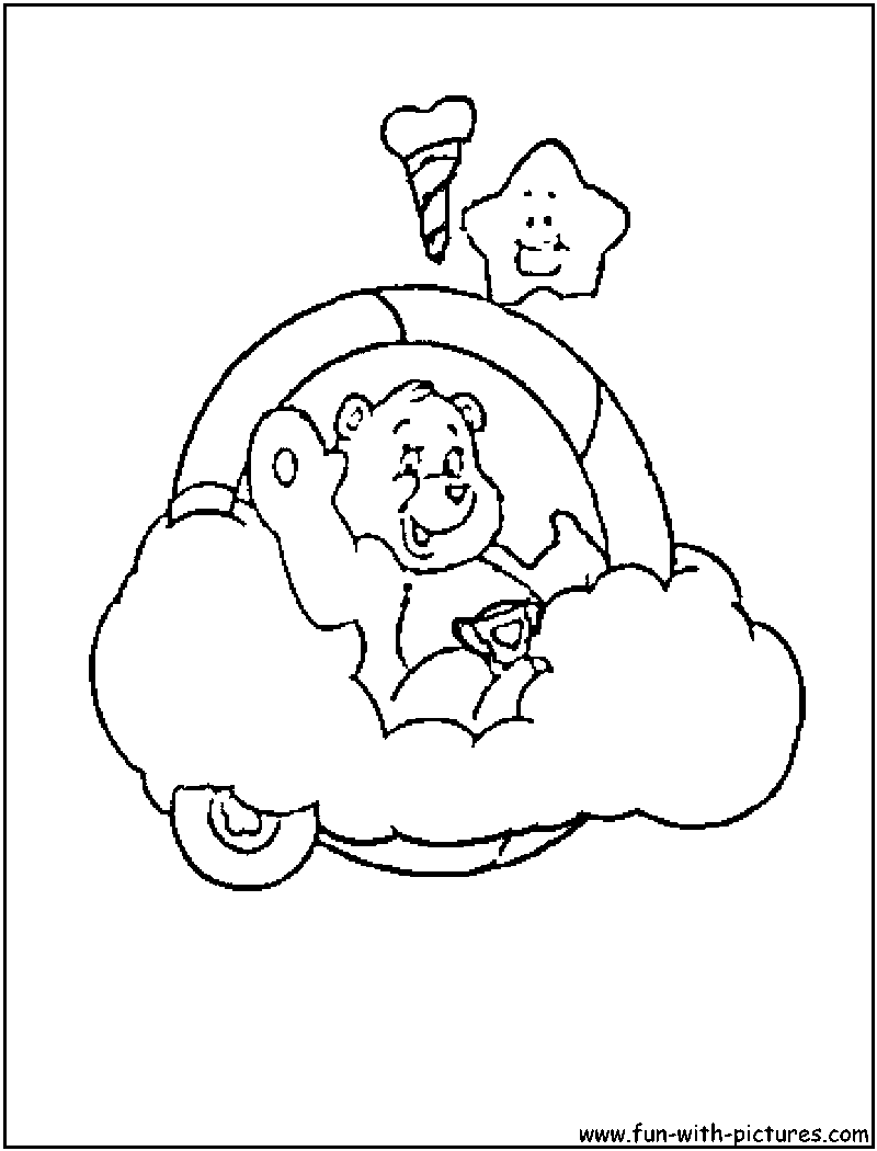 care bear valentines coloring pages - photo#21