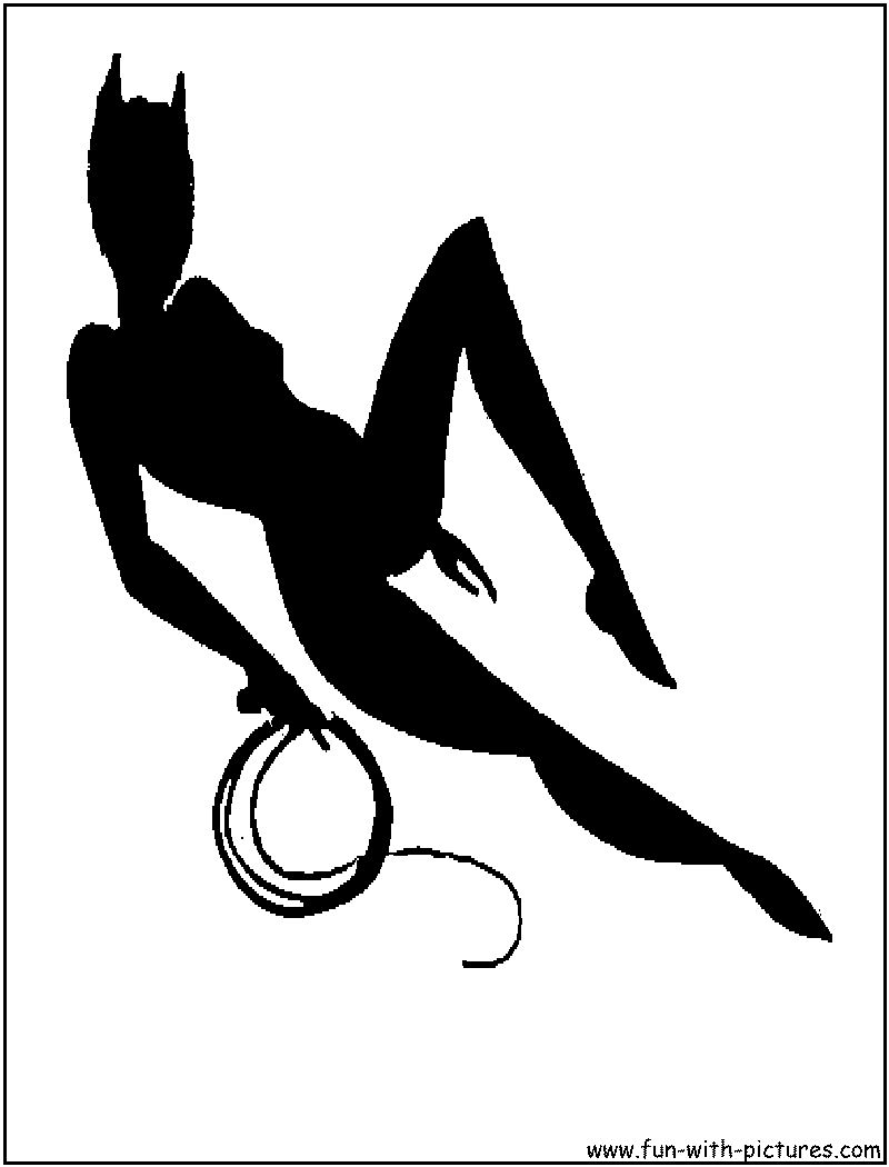 Catwoman Silhouette