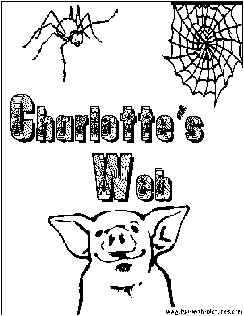 charlottes web coloring pages print - photo#25
