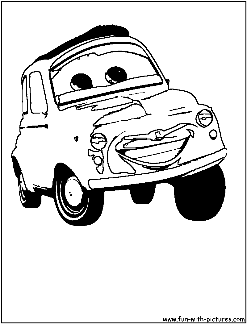 Luigi Cars Coloring Pages | Coloring Pages