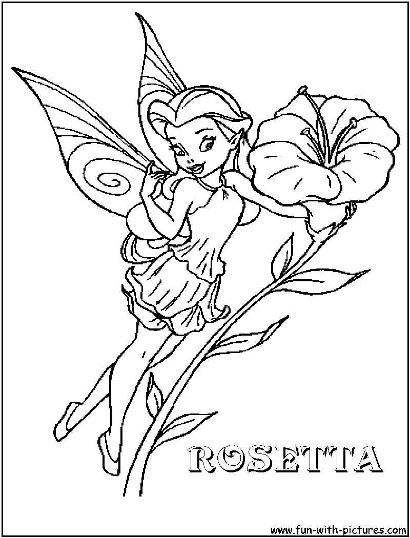 Printable Disney Fairies Coloring Pages For Kids | 1050x800