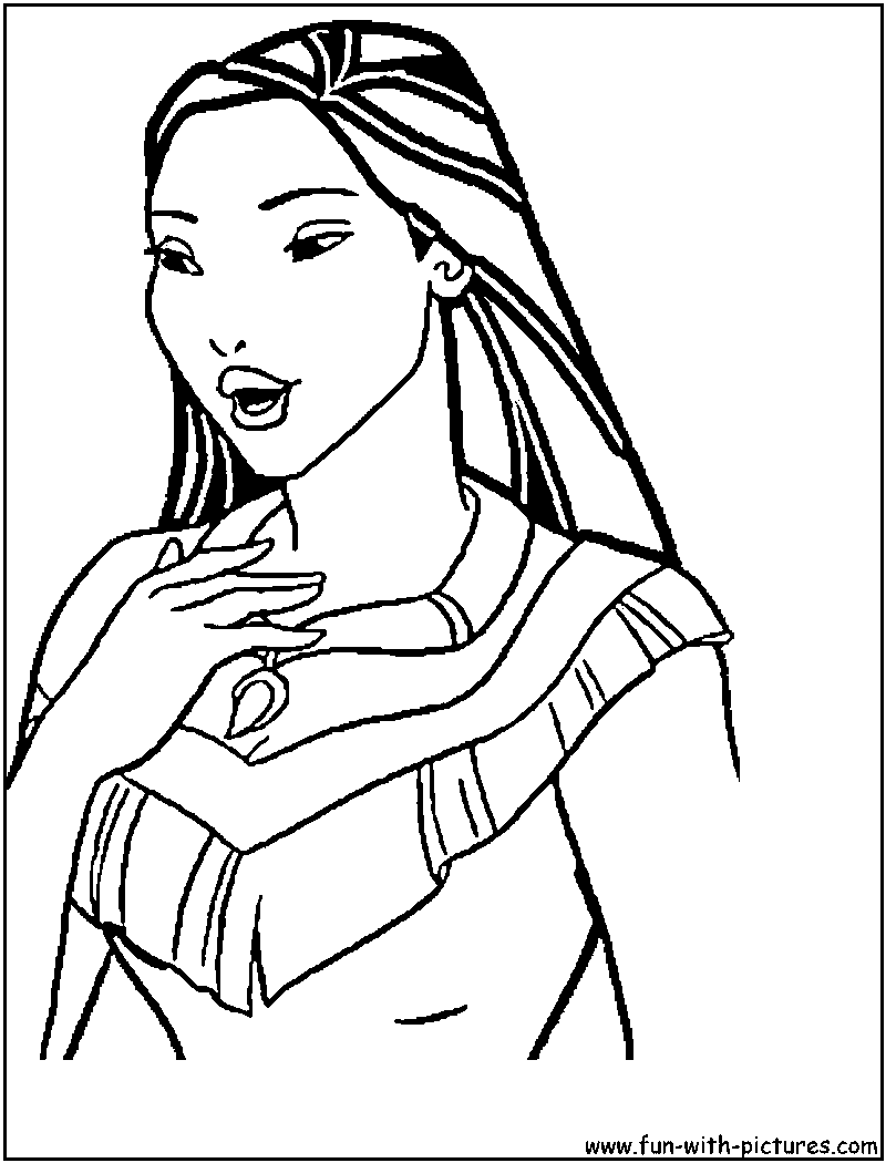 Lovely Princess Pocahontas Coloring Pages #5794 Princess ... | 1050x800