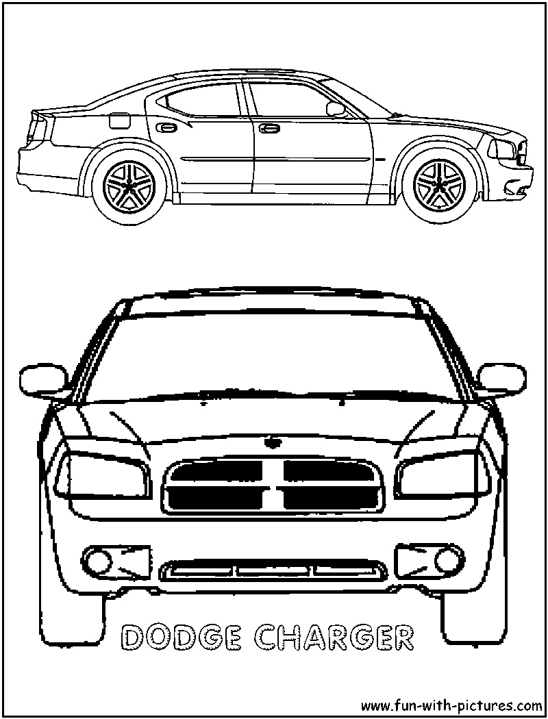 dodge charger coloring pages free