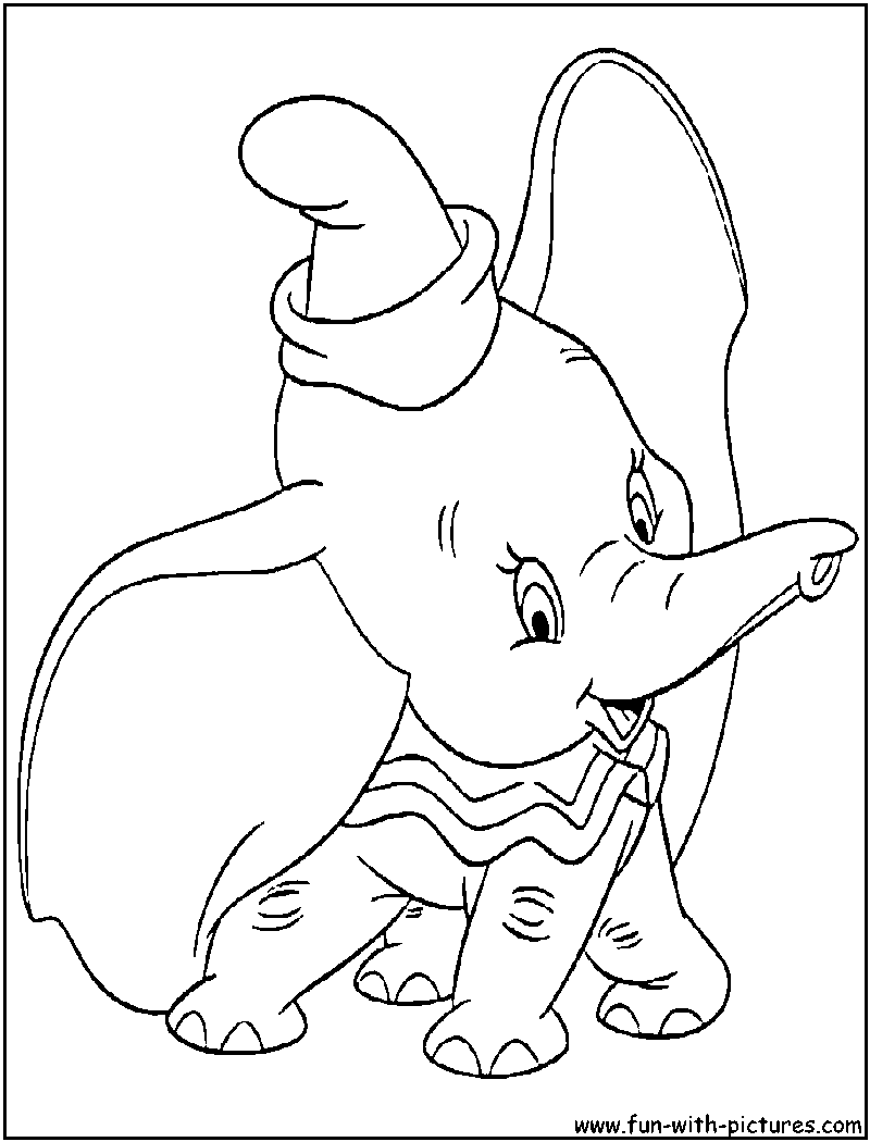 Dumbo Coloring Page