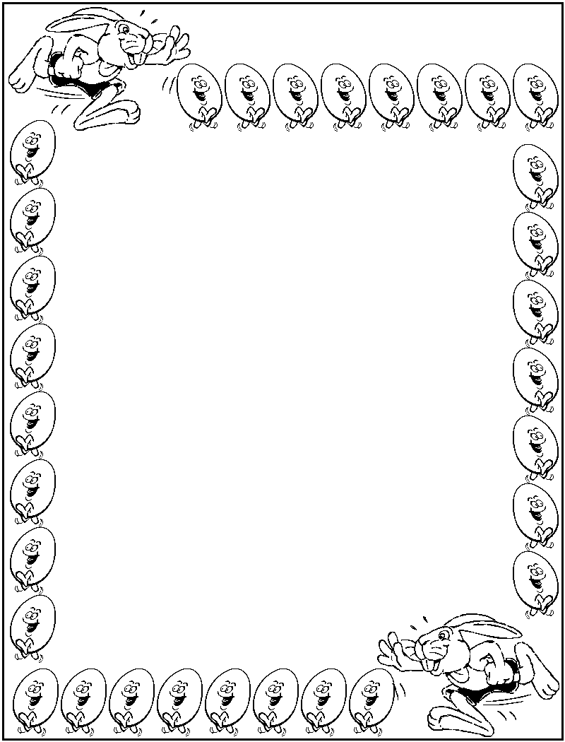Borders Coloring Pages Free Printable